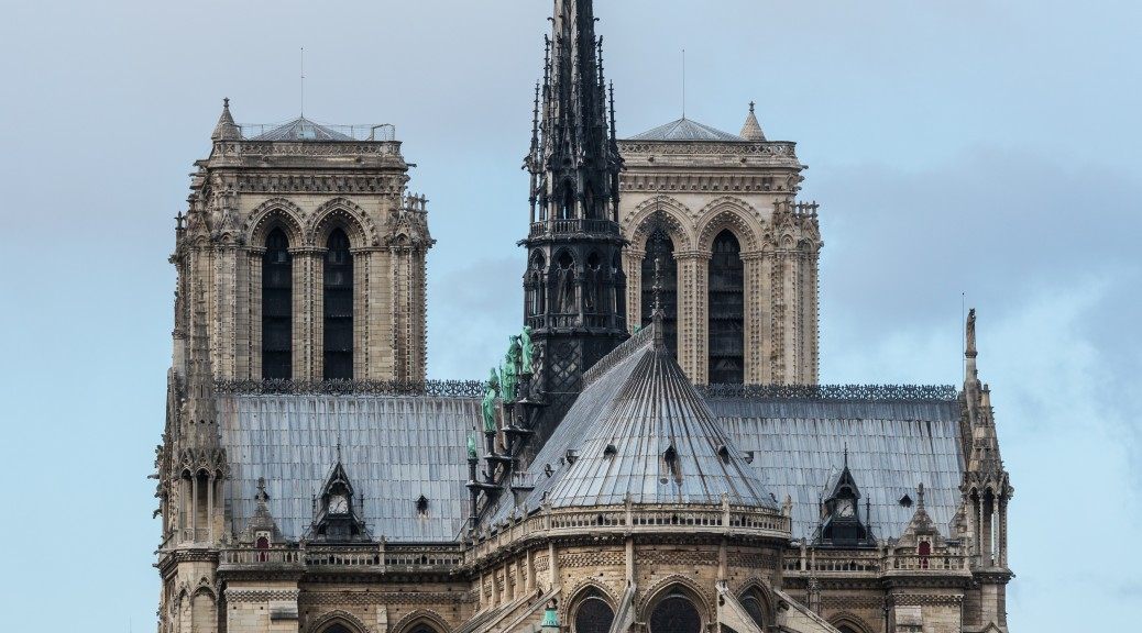 Notre Dame de Paris, East View,