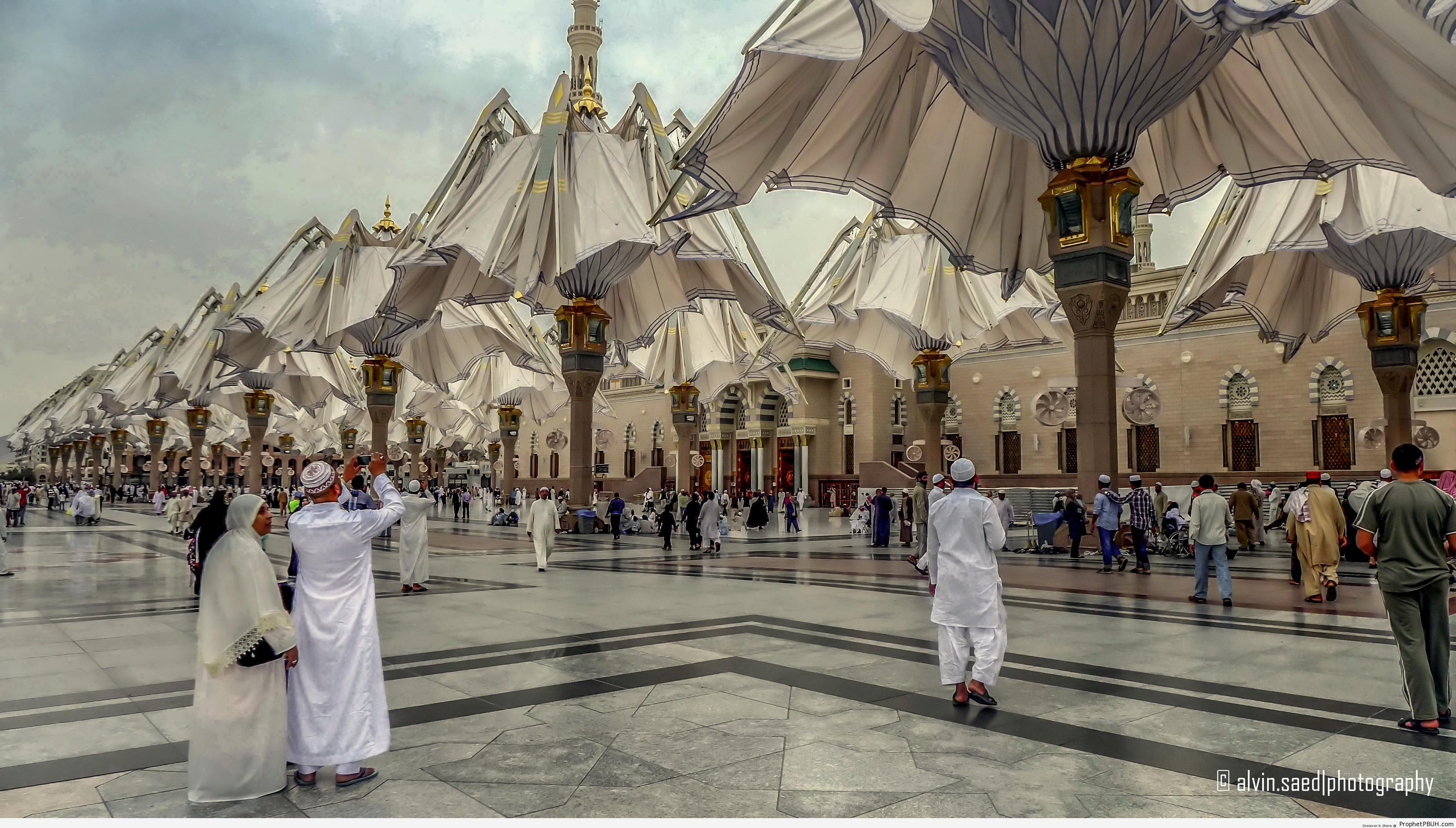 Half-Folded-Shade-Umbrellas-at-the-Prophet-s-Mosque-Madinah-Saudi-Arabia-Al-Masjid-an-Nabawi-The-Prophets-Mosque-in-Madinah-Saudi-Arabia-Picture