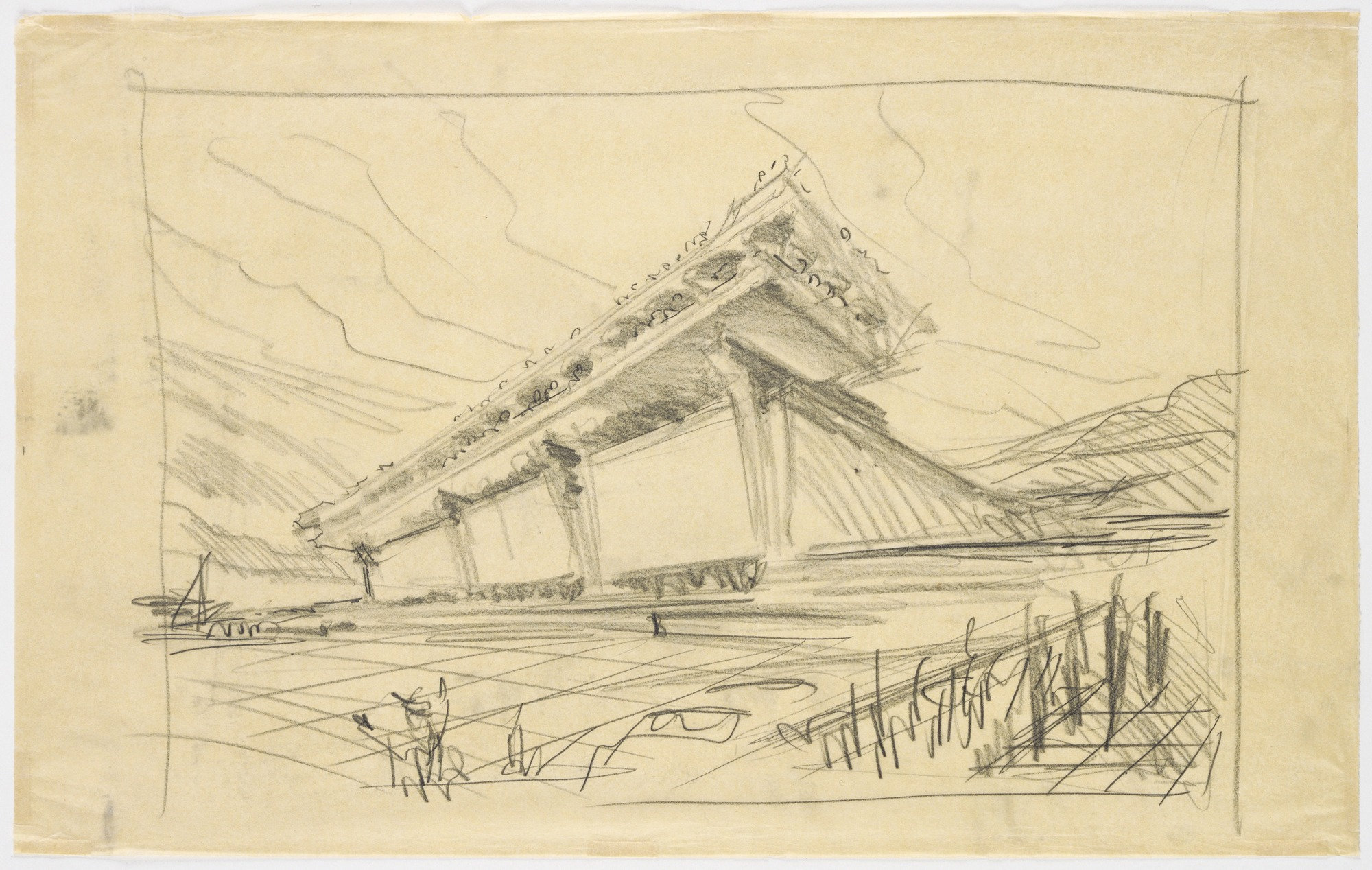 Terminal Building, Dulles International Airport, Sterling, Virginia, Exterior perspective