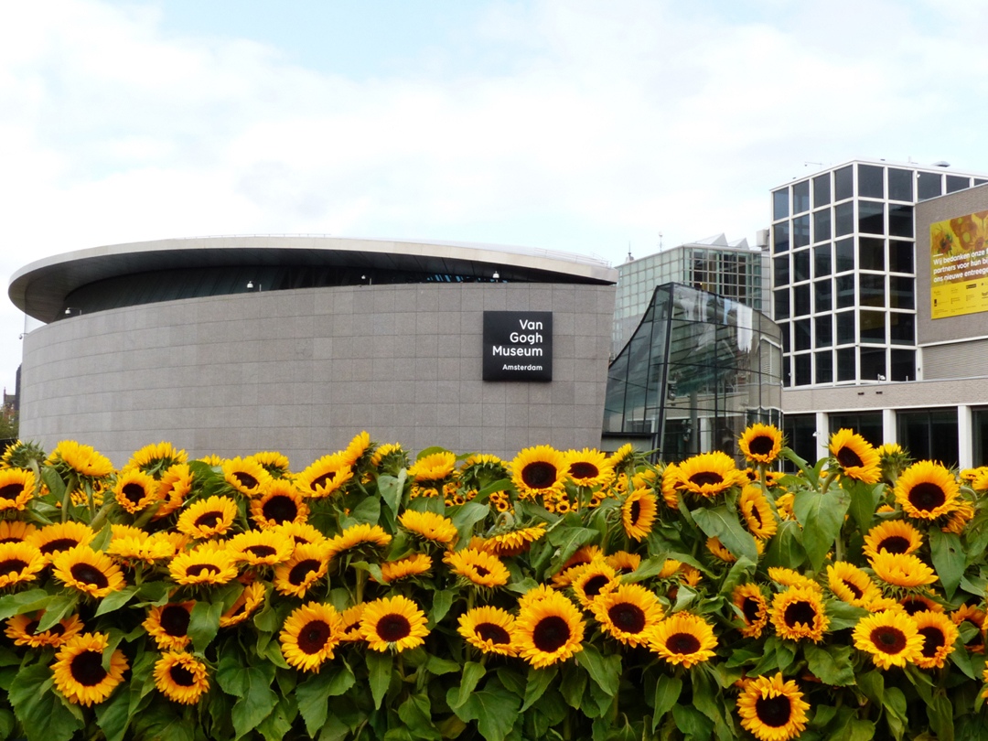 Van-Gogh-Museum_Sunflowers-at-opening-new-entrance_Photo-by-Conscious-Travel-Guide-Amsterdam
